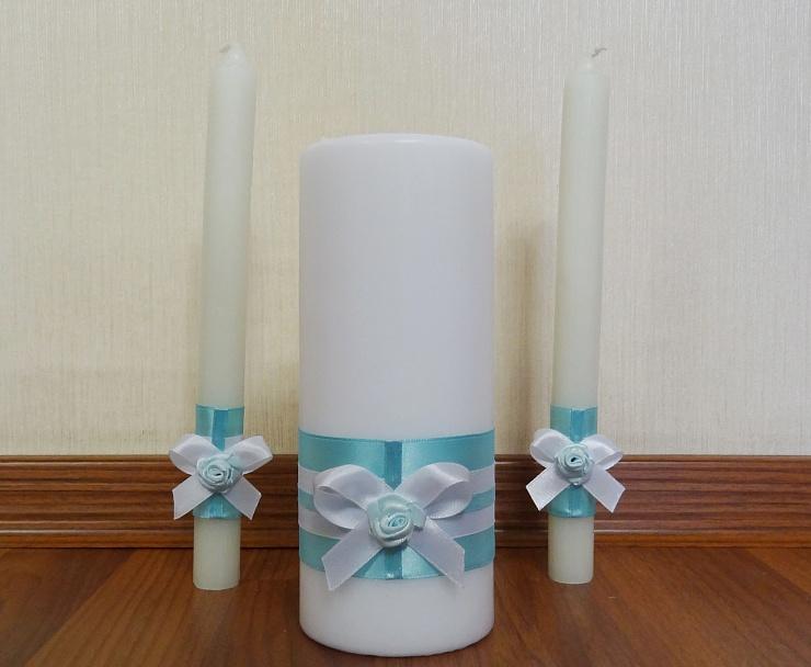 Украшение свадебных свеч своими руками 522
